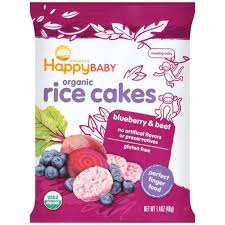 Happy Munchies - Rice Cakes-Blueberry & Beet