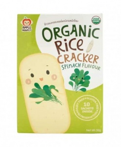Organic Rice Cracker-Spinach